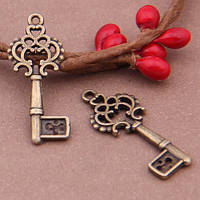 Кулон Ключ, Металл, Цвет: Бронза, Размер: 28x11мм, (УТ100008805)