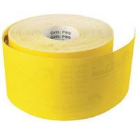 Шлифовальная шкурка на бумажной основе ТМ «Бригадир Standart», желтая, 115мм*50м, зерно 100