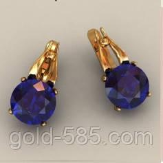 Стильные золотые серьги 585  с крупными Фианитами - Мастерская ювелирных  украшений «GOLD-585 8a464c9b0bb