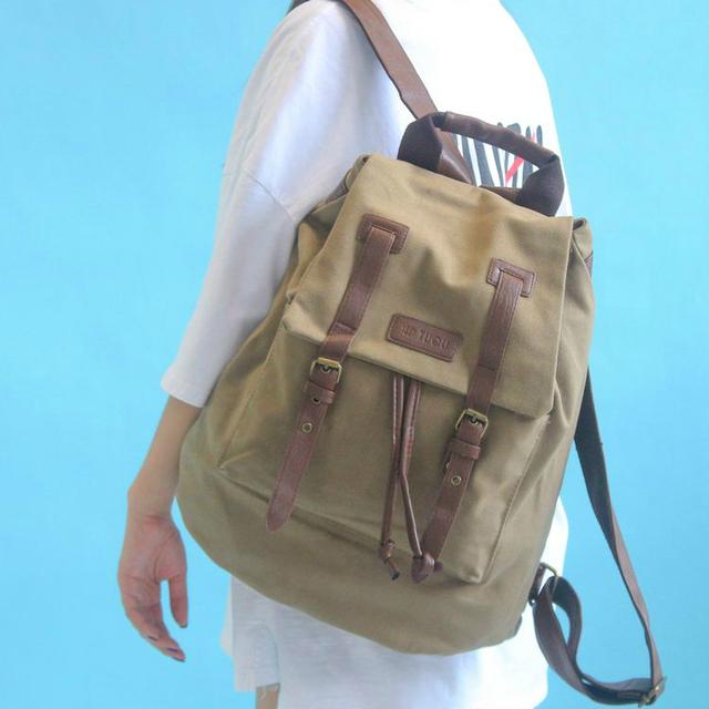 Женский рюкзак из плотного холста