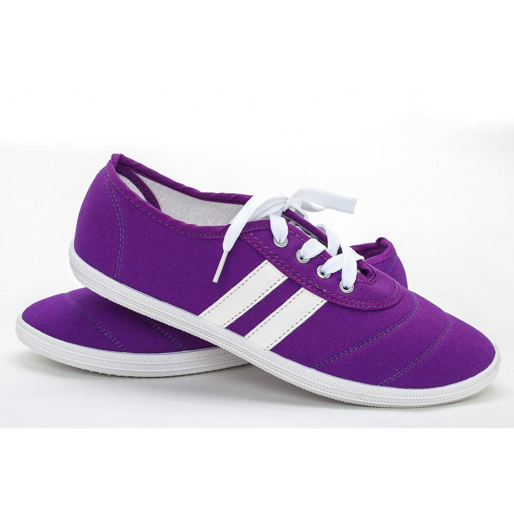 Женские мокасины (Код: S-27 фиолет)