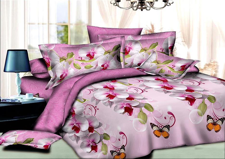 Двуспальный комплект постельного белья евро 200*220 хлопок  (8058) TM KRISPOL Украина