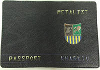 "Кожаная обложка на паспорт ""Металлист"""