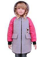 Кашемировое пальто с капюшоном на девочку ЛЮСИ 98-122см