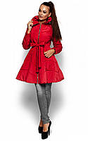 Жіноча приталена бордова куртка Siena