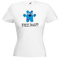 Женская футболка с прикольной надписью Free Hug!!!