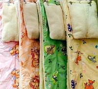 Ковдра і Подушка. Дитяче. Хутряне, двосторонню. Різні кольори.