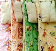 Одеяло и Подушка. Детское. Меховое, двухсторонее. Разные цвета.
