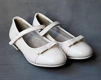 33р - 21см туфли на девочку тм Clibee каблучок вставка золото