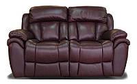 Кожаный двухместный реклайнер Boston, диван реклайнер, мягкий диван, мебель из кожи