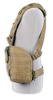 Разгрузочный жилет с боковыми карманами для бронепластин Tasmanian Tiger CHEST RIG MKII M4 khaki