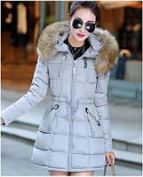 Крутая модная женская куртка пуховик с замочками. Хорошее качество. Доступная цена. Дешево. Код: КГ1913