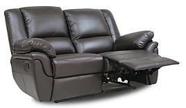Мягкий двухместный кожаный диван с реклайнером - ALABAMA