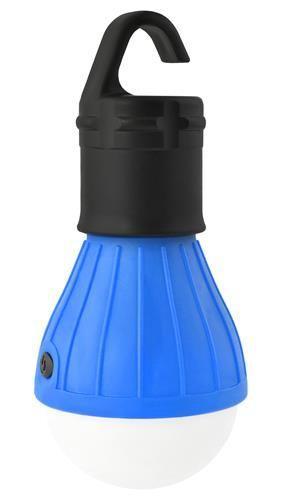 Ліхтар туристичний підвісний з гачком синій