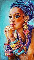 «Портрет африканской женщины» картина маслом