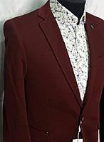 Бордовый мужской пиджак из фактурной ткани Andromax