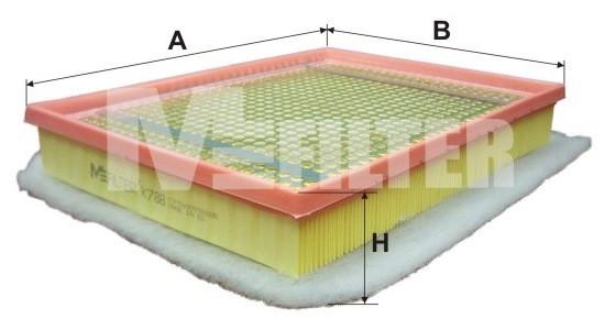 Фильтр воздушный M-Filter K788 (051/6 AP)