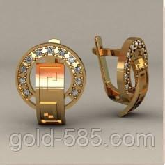 a3d7d350e37f Женские золотые серьги 585  пробы в греческом стиле - Мастерская ювелирных  украшений «GOLD-