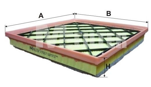 Фильтр воздушный M-Filter K7017 (051/7 AP)