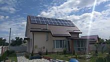 Монтаж гибридной солнечной электростанции в Борисполе, Киевской обл, от Якісна Енергія ТМ, мощностью 5кВт под зеленый тариф с применением гибридного инвертора Goodwe GW5048D-ES