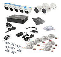 Проводной комплект видеонаблюдения Tecsar 8OUT-MIX3, фото 1