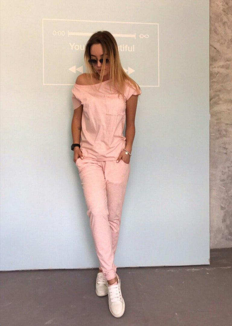 Женский летний костюм 42-46р цвет розовый минт  продажа 7d907dad6ac9c