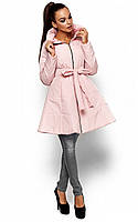 Жіноча приталена персикова куртка Siena