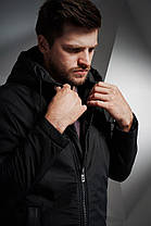 Мужская куртка Eagle Black черная, фото 2