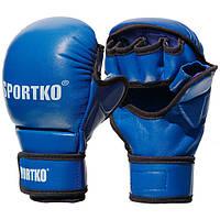 Перчатки для рукопашного боя с открытыми пальцами кожаные Sportko арт. ПК-7 размер М