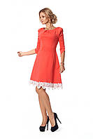 Женское платье с кружевом мини, рукава 3/4 1009 цвет размер 42-50