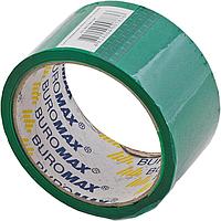 Скотч клейкая лента упаковочная buromax bm.7007-04 зеленая 48мм x 35м