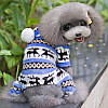 Комбинезон флисовый для собак Олени р.XL