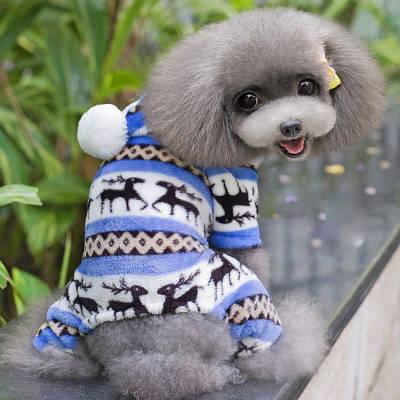 Комбинезон флисовый для собак Олени р.М