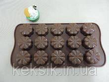 Форма для конфет Цветы 15 шт