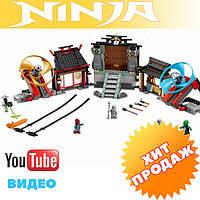 Конструктор лего ниндзя Bela Ninja 10527 БОЕВАЯ ПЛОЩАДКА АЭРОДЖИТСУ  686 дет