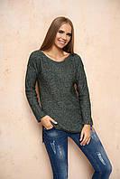 Вязаный женский зеленый свитер Марта ТМ Arizzo 44-46 размеры
