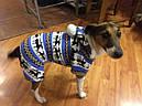 Комбинезон флисовый для собак Олени р.М, фото 5