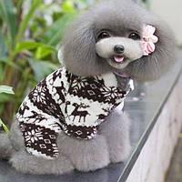 Комбинезон флисовый для собак Олени р.XXL