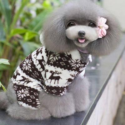 Комбинезон флисовый для собак Олени р.L