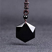 "Кулон черный камень ""Black Obsidian"""