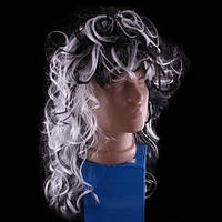 Парик черно - белый, вьющиеся волосы