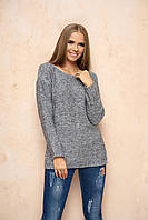 Вязаный женский серый свитер Марта ТМ Arizzo 44-46 размеры