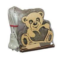 Солевой светильник Мишка