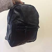 Стильный черный городской рюкзак экокожа
