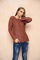 Вязаный женский терракотовый свитер Марта ТМ Arizzo 44-46 размеры