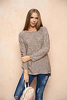 Вязаный женский бежевый свитер Марта ТМ Arizzo 44-46 размеры