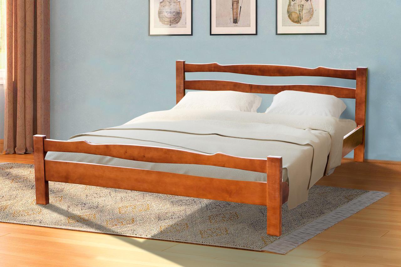 Кровать двуспальная деревянная Венера    Микс мебель, цвет орех