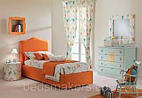 Детская кровать односпальная Unique с мягким изголовьем односпальная, на заказ в Одессе