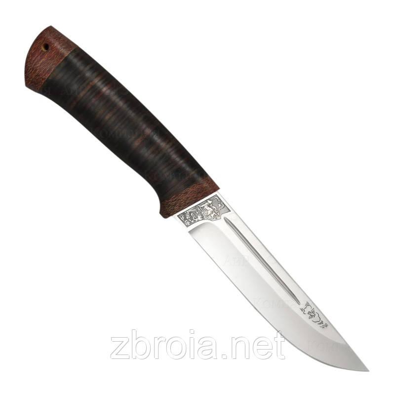 """Нож """"АиР"""" """"Бекас"""" (кожа) 95Х18"""