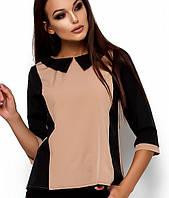 Женская двухцветная блузка(Малиkr)